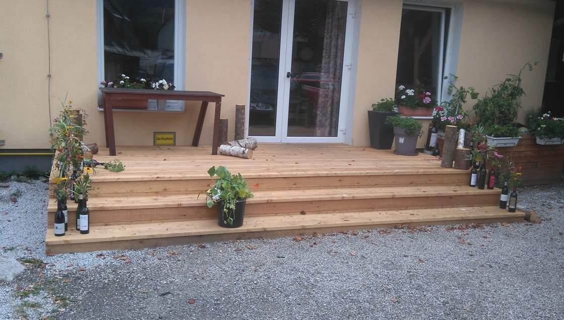 Terrasse Mit Stufe terrasse mit stufen in lärche dirninger gmbh